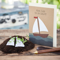 Grußkarte - Alles Gute - Segelschiff