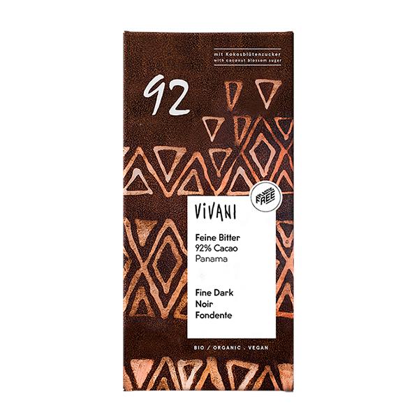 Vivani Feine Bitter 92% cacao 80g